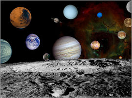 Stocktrek Images - Montage of the planets