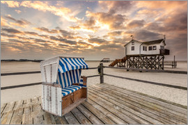 Dennis Stracke - In the morning the North Sea beach of Sankt Peter Ording