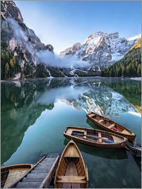 Achim Thomae - Morgenstimmung am Pragser Wildsee