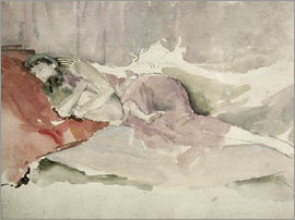 James Abbott McNeill Whistler - Mother and Child on a Couch