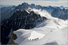 Peter Richardson - Mountaineers and climbers, Aiguille du Midi, Mont Blanc Massif, Chamonix, Haute Savoie, French Alps,