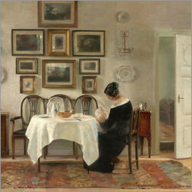 Vilhelm Hammershoi - Mutter mit Kind