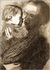 Käthe Kollwitz - Mother with Child in her arms