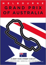 chungkong - My F1 MELBOURNE Race Track Minimal Poster