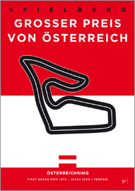 chungkong - My F1 Osterreichring Race Track Minimal Poster