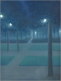 William Degouve de Nuncques - Nightly atmosphere in the Parc Royal in Brussels