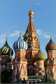 Miles Ertman - Close-up of the domes of St. Basil's Cathedral, UNESCO World Heritage Site, Moscow, Russia, Europe