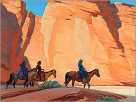 Maynard Dixon - Navajos in a Canyon