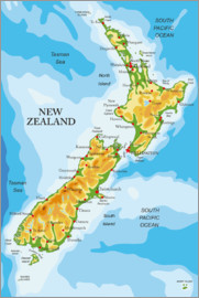 New Zealand - Map