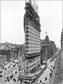 New York City 1903, Flatiron Building im Bau