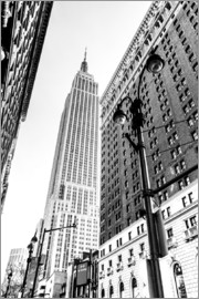 newfrontiers photography - New York City - Empire State Building (schwarz weiß)