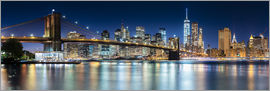 newfrontiers photography - New York City Skyline bei Nacht (Panorama)