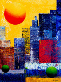 Gerhard Kraus - New York Skyline Abstrakt