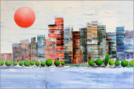 Gerhard Kraus - New York  Skyline, abstrakt