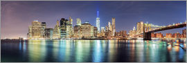 newfrontiers photography - New York Skyline, Panorama-Ansicht