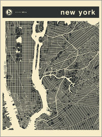 Jazzberry Blue - NEW YORK Stadtplan