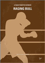chungkong - No174 My Raging Bull minimal movie poster