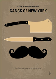 chungkong - No195 My Gangs of New York minimal movie poster