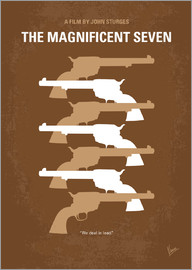 chungkong - No197 My The Magnificent Seven minimal movie poster