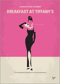 chungkong - No204 My Breakfast at Tiffanys minimal movie poster