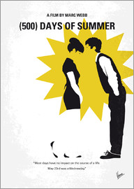 chungkong - No500 My 500 Days Of Summer minimal movie poster