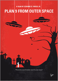 chungkong - No518 My Plan 9 From Outer Space minimal movie poster
