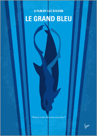 chungkong - No577 My Big Blue minimal movie poster