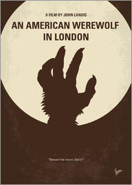 chungkong - No593 My American werewolf in London minimal movie poster