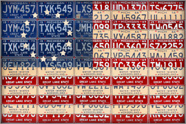Design Turnpike - License Plate American Flag Betsy Ross Edition