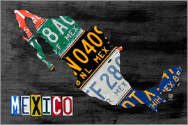 Design Turnpike - License Plate Map of Mexico