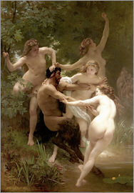 William Adolphe Bouguereau - Nymphen und Satyr