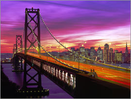 Paul Thompson - Oakland Bay Bridge und San Francisco Skyline