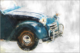 LoRo-Art - Oldtimer-2cv front, links