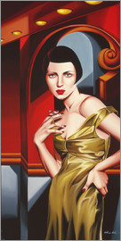 Catherine Abel - OLIVE SATIN DRESS