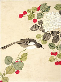 Wang Guochen - One of a series of paintings of birds and fruit, late 19th century