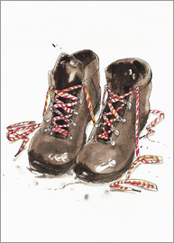 Ikon Images - Pair of hiking boots
