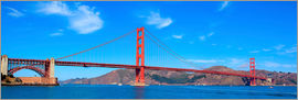 Panorama-Blick auf Golden Gate Bridge