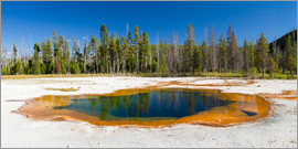 Circumnavigation - Panorama Emerald Pool, Yellowstone National Park