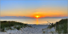 Fine Art Images - Panorama Sonnenuntergang am Strand
