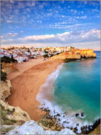 Roberto Sysa Moiola - Panoramic of Carvoeiro at sunset, Algarve, Portugal