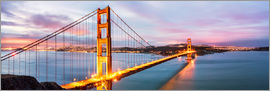Matteo Colombo - Panoramic von Golden Gate Bridge, San Francisco, USA