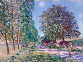 Alfred Sisley - Pappel-Allee in Moret am Loing