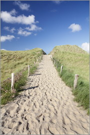 Markus Lange - Path through dunes, Sylt, North Frisian Islands,Nordfriesland, Schleswig Holstein, Germany