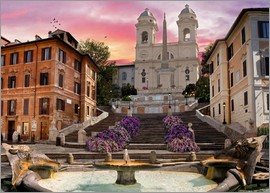 Dominic Davison - Piazza Di Spagna with the Spanish Steps