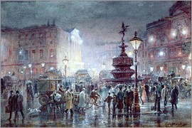 Thomas Prytherch - Piccadilly Circus at Night, 1911
