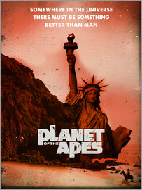 2ToastDesign - Planet of the Apes retro style movie inspired