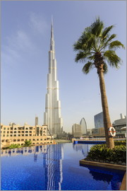 Amanda Hall - Pool und Burj Khalifa