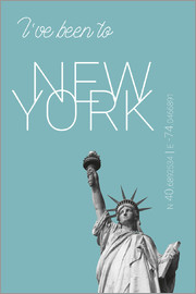campus graphics - Popart New York Freiheitsstatue I have been to Farbe: Hellblau