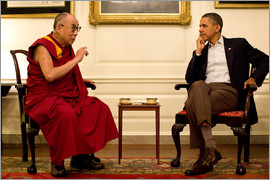 President Barack Obama meets the Dalai Lama