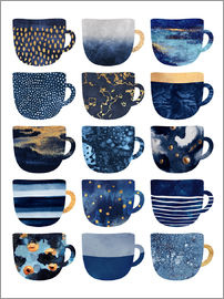 Elisabeth Fredriksson - Pretty Blue Coffee Cups